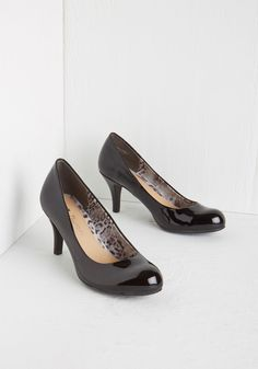 Gloss in Thought Heel. With a sense of focus as sharp as the style of these black pumps from CL by Laundry, youre one gal who sure gets things done. #black #modcloth