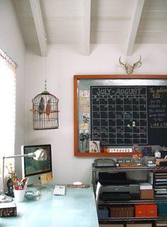 Like the deer head and chalkboard calendar