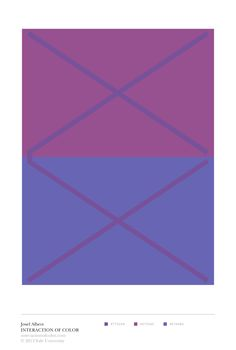 "Josef Albers Interaction of Color: ""1 color appears as 2"" color study with reversed grounds"