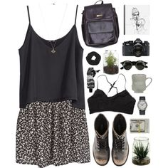 """dark is comforting"" by martosaur on Polyvore"