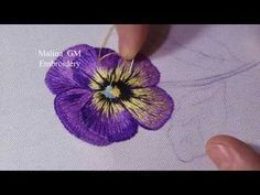 Long and Short Stitch Anemone Flower Hand Embroidery 롱앤숏스티치 아네모네 꽃 프랑스자수 - YouTube