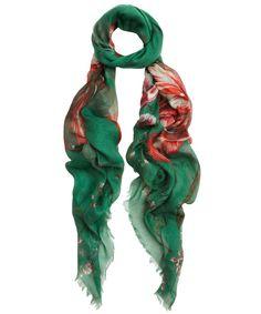 Green Tulip Pashmina, Alexander McQueen. #lifeinstyle #greenwithenvy
