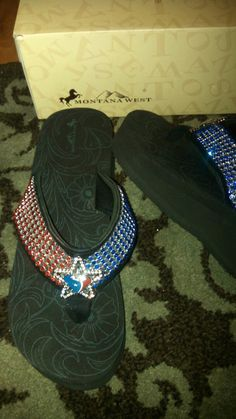 Houston Texans  Bling Flip Flops