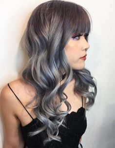 Unique silver hair colors with beautiful bangs to show off in 2018
