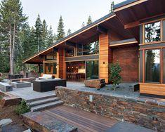 Amazing Mount-side Home in Modern Designs: Beautiful Modern Landscape View Mountain Modern Digs Modern Patio ~ gozetta.com Architecture Inspiration