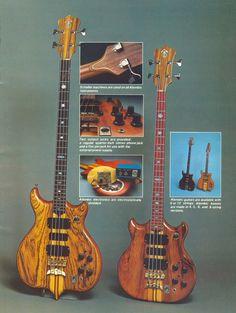 1977 Alembic Basses