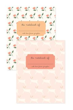 Flower & Bunny Notebook Set