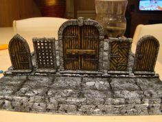 Warhammer Terrain, Warhammer 40k, Dungeons And Dragons Miniatures, Dungeon Tiles, Miniature Crafts, Miniature Houses, Game Terrain, Medieval Houses, Wood Carving Designs