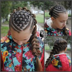 Criss-Cross Goddess Braids - 70 Best Black Braided Hairstyles That Turn Heads in 2019 - The Trending Hairstyle Lil Girl Hairstyles, Braided Hairstyles, Cool Hairstyles, Boy Haircuts, Short Haircuts, Hairstyles Haircuts, Braids For Kids, Girls Braids, Kid Braid Styles