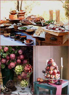 Buffet de casamento decorado com frutas! Casamentos únicos: MARSALA SEXY | Paperland - Modelos de convites pra imprimir como quiser