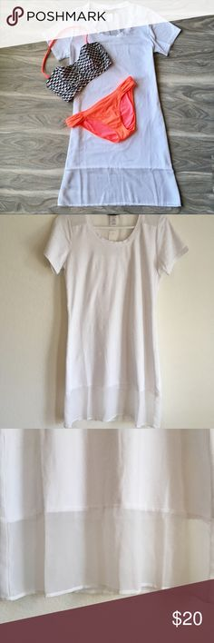 Tommy Bahama swimwear cover up nwt Tommy Bahama swimwear White cover up NWT. Super cute. The material is actually thick Tommy Bahama Swim Coverups