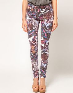 New ASOS Butterfly Skinny Jean Sz 4 s $65 Urban Outfitters Nastygal | eBay