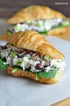 This chicken salad could not be easier or delicious. With chicken, cranberries, apples, and pecans, it's wonderful on its own or as a sandwich!