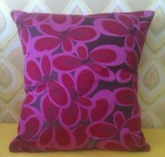 Items similar to Raspberry red & chocolate fabric print on Etsy