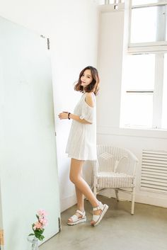 Open Shoulder Lace Dress
