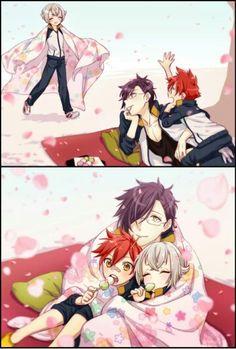 来派 Boys Anime, Cool Anime Guys, Character Modeling, My Character, Mutsunokami Yoshiyuki, Nikkari Aoe, Touken Ranbu Characters, Anime Family, Bleach Anime