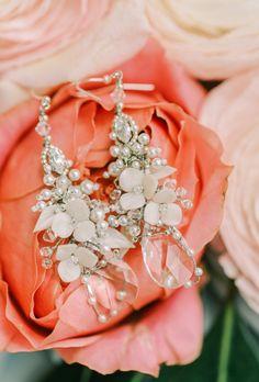 Dreamy Watercolor Inspired Wedding In South Carolina Wedding Earrings, Wedding Jewelry, Spring Wedding Flowers, Wedding Album, Wedding Photography, Photography Ideas, Garden Wedding, Wedding Events, Real Weddings