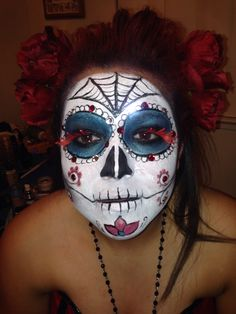 Day of the dead Halloween face paint