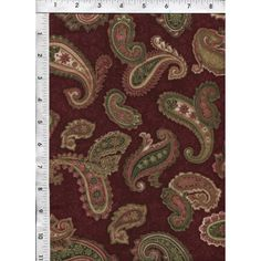 Beautifully embellished burgundy and green paisleys swirling about on a wineberry background. www.americasbestthreads.com