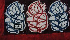 block printing in indigo and madder color on khadi.