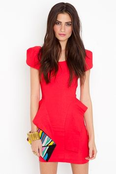 This Victoria #Peplum Dress by #NastyGal is so adorb, and the back, or lack there of....looooove