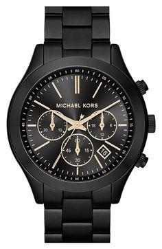 MICHAEL Michael Kors Michael Kors 'Slim Runway' Chronograph Bracelet Watch, 42mm available at #Nordstrom