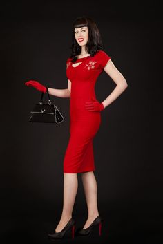 Sierra Red | Bettie Page Clothing  Super cute...why dont they have these styles in most stores?