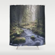 Shower Curtain featuring Silent Whispers by HappyMelvin