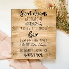 Wedding Seating Signs, Wood Wedding Signs, Painted Wooden Signs, Hand Painted, Wedding In The Woods, Wedding Day, Country Barn Weddings, Cheese Lover, Guest Book Alternatives