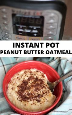 This recipe for Instant Pot Peanut Butter Oatmeal is the easiest hot breakfast idea ever! Make a pot and store the leftovers for breakfast! Peanut Butter Breakfast, Peanut Butter Oatmeal, Healthy Peanut Butter, Peanut Butter Recipes, Oatmeal Recipes, Instant Pot, Breakfast Recipes, Eat, Food