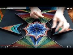 STRING ART TUTORIAL | TIMELAPSE | geometric hypnotizing picture - YouTube
