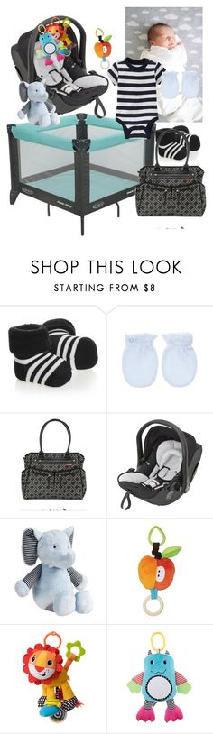 """""""-laying on my back and making baby noise- ~ Logan"""" by satandaughter ❤ liked on Polyvore featuring Graco, Old Navy, Falke, Skip Hop and Carter's"""