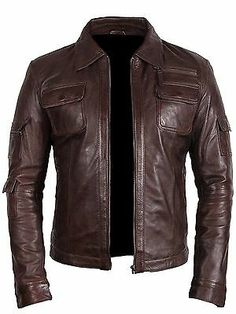 100% Real Leather & Handmade. We have ourown size guide (displayed along with product images) which should not bemisunderstood with any country (UK, USA) specific size chart. In case you are unsatisfied with our product, be assured that we will do everything necessary to ensure that you have your desired product. Fringe Leather Jacket, Lambskin Leather Jacket, Fashion Wear, Retro Fashion, Mens Fashion, Western Shirts, Western Wear, Leather Varsity Jackets, Stylish Jackets