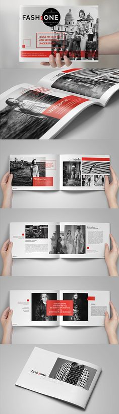 Multipurpose Fashion Brochure Template #brochuretemplates #catalog #annualreport