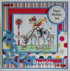 Bev's Little Craft Room: Gee Up Neddy from Just Inklined Birthday Card