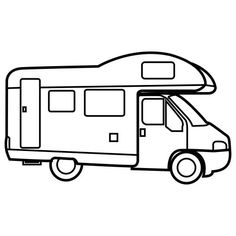 Baby Coloring Pages Busy Book Precious Moments Camper Van Applique Patchwork Trucks Camping Vehicles Motorhome Autos Cloud Free