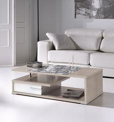 Mesa de centro elevable con detalle en cristal REF: 0307 | Muebles en Toledo