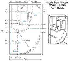 speaker plans for front load scoop speakers - Google Search