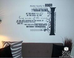 Word art wall decal