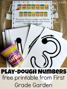 Play Dough Busy Bags - love for Pre-K and Kindergarten Numbers Preschool, Learning Numbers, Math Numbers, Teaching Math, Preschool Activities, Decomposing Numbers, Kindergarten Centers, Kindergarten Classroom, Montessori
