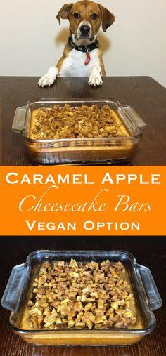pin for caramel apple cheesecake bars