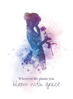 Wherever life plants you, Bloom with grace, Quote, ART PRINT, Inspirational, Lady, Flower, Gift, Wall Art, Home Decor, motivational, woman, rose, watercolour, gift ideas, quotes, birthday, christmas #Quote #ARTPRINT #Inspirational #LadyFlower #Gift #WallArt #HomeDecor #motivational #woman #rose #watercolour #giftideas #quotes #birthday #christmas