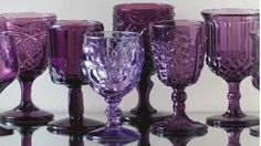 purple goblets courtesy of casadeperrin/color-glassware