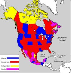 Canadian Provinces American And Mexican States By Governor S Political Party Ideology According To Wikipedia