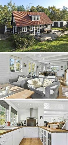 Cozy holiday home in Rørvig, with a great atmosphere and space for the whole family. A beautiful sandy beach and the harbor of Rørvig are . Hotel Lounge, Small Tiny House, Tiny House On Wheels, Home Beach, Swedish Cottage, Hotels For Kids, Hotel Room Design, Small Cottages, Loft House