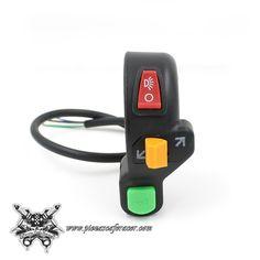 Piña de Luces interruptor Manillar 22mm Estilo CafeRacer Luces Intermitentes Start Color Negro -- 11,39€