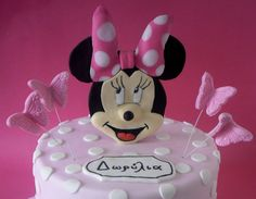 Minnie Mouse Disney Cartoon 2D Cake Topper by SweetCakeByAnastasia