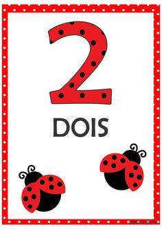 Numerais Joaninha para Imprimir Grátis Preschool Math, Preschool Worksheets, Kindergarten Classroom, Flashcards For Kids, Lego Activities, Snoopy Love, Simple Math, Bird Theme, School Posters