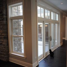 Sliding glass doors - I like the windows over the door. For the dining area expansion.