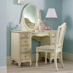 Ava Bedroom Vanity Set...love the drawers on each side...darker colors?